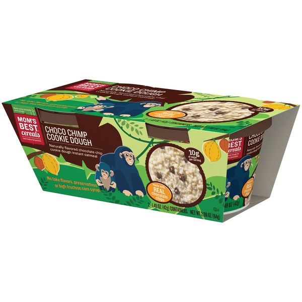 Mom's Best Cereals Choco Chimp Cookie Dough Instant Oatmeal