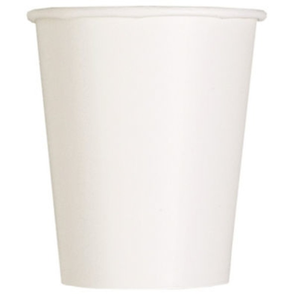 Unique Bright White 9 Oz Cups
