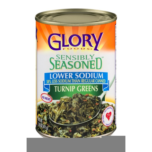 Glory Foods Sensibly Seasoned Turnip Greens Lower Sodium