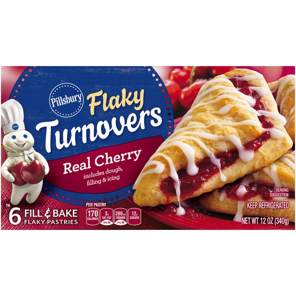 Pillsbury Flaky Cherry Turnovers