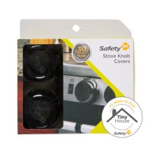 Safety 1ˢᵗ Stove Knob Covers, Black