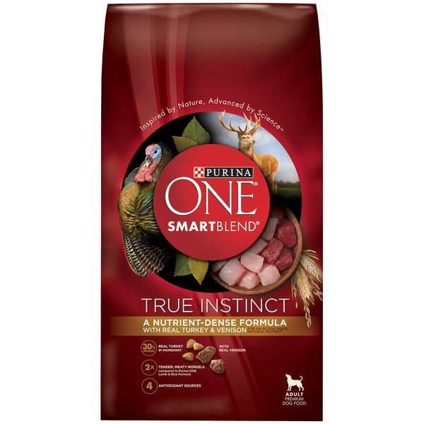 Purina One Dog Dry SmartBlend True Instinct with Turkey & Venison Adult Dog Food