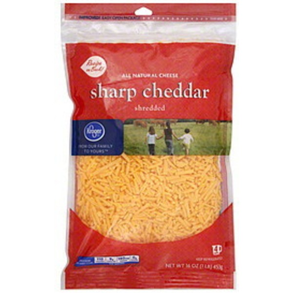 Kroger Sharp Cheddar Shredded Cheese