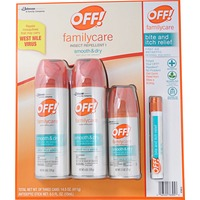 Off! Familycare Insect Repellent, 2 x 6 oz + 2.5 oz Spray, 1 Bite & Itch Relief Pen