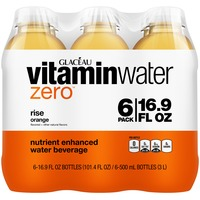 Glaceau Vitaminwater Zero Rise Orange 16.9 Oz Vitaminwater Zero