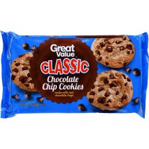 Great Value Classic Chocolate Chip Cookies, 13.75 oz