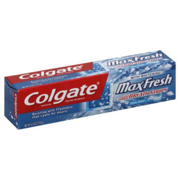 Colgate Max Fresh Whitening with Mini Breath Strips Cool Mint Toothpaste
