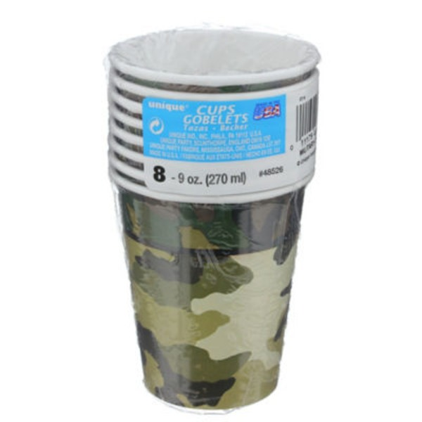 Unique 9 Oz. Military Camo Cups