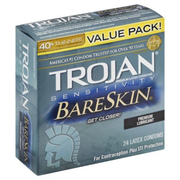 Trojan Bareskin Premium Latex Condoms