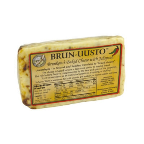 Brunkow's Brun Uusto Jalapeno Baked Cheese, Sold By The