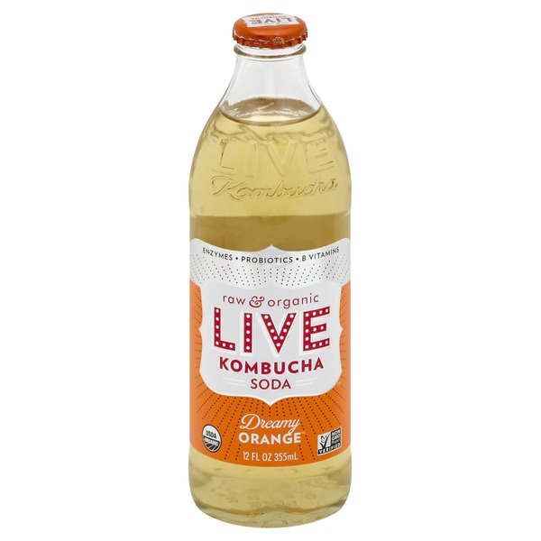 LIVE Kombucha Soda Dreamy Orange