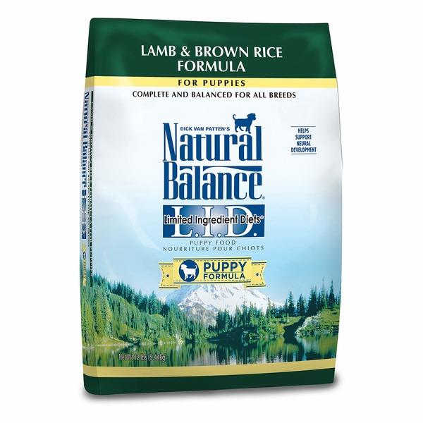 Natural Balance L.I.D. Limited Ingredient Diets Lamb & Brown Rice Puppy Food 12 Lbs.
