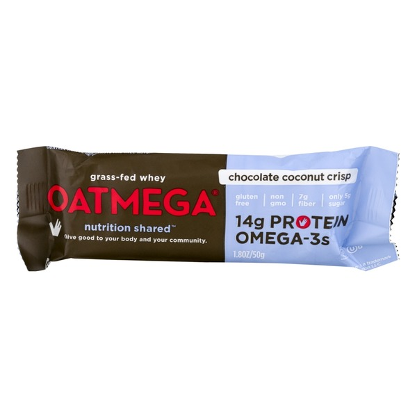Oatmega Bar Chocolate Coconut Crisp