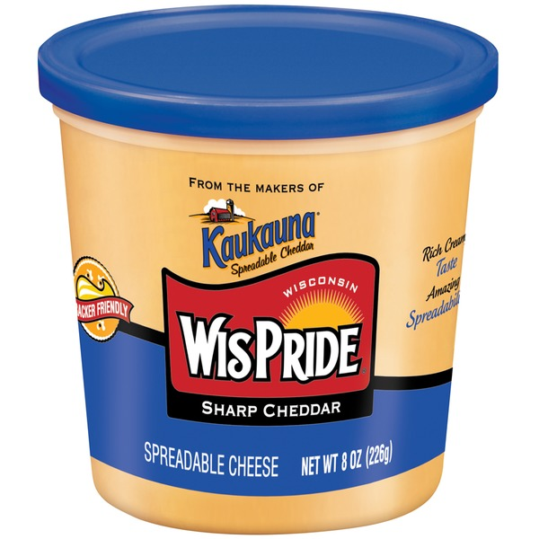 Wis Pride Sharp Cheddar Spreadable Cheese