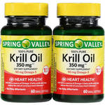 Spring Valley Krill Oil Dietary Supplement (Pack of 2)
