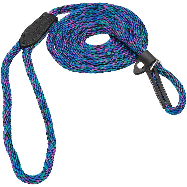 Hamilton London Quick Blue Braid Dog Collar & Leash Combo 6' L X 5/16