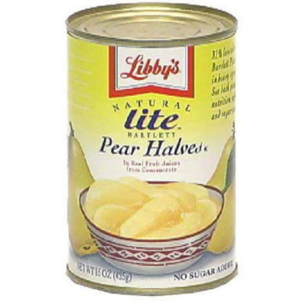 Libby's Bartlett In Pear Juice Pear Halves