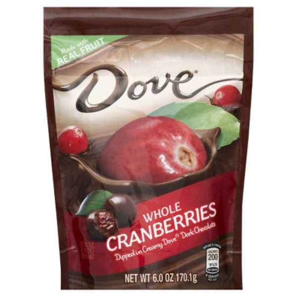 Dove Whole Cranberries Dipped In Dark Chocolate