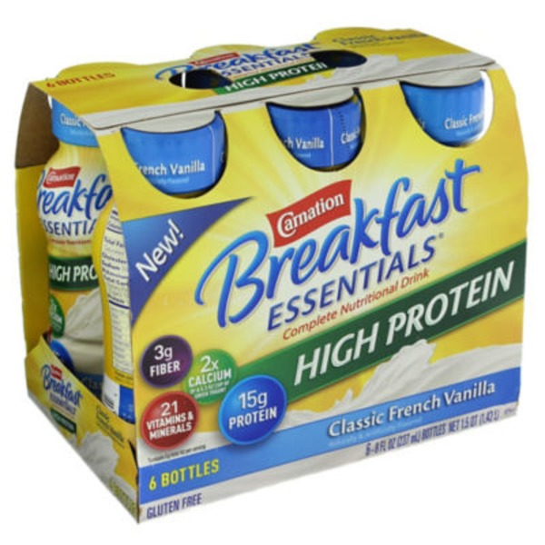 Carnation Breakfast Essentials High Protein Classic French Vanilla Complete Nutritional Drink