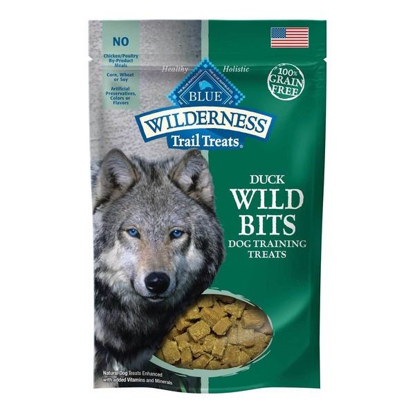 Blue Buffalo Dog Training Treats, Wild Bits, Duck