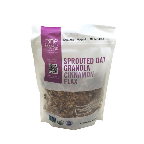 One Degree Organics Sprouted Oat Granola Cinnamon Flax