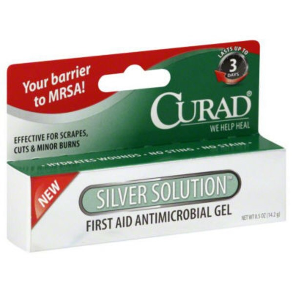 Curad First Aid Antimicrobial Gel Silver Solution