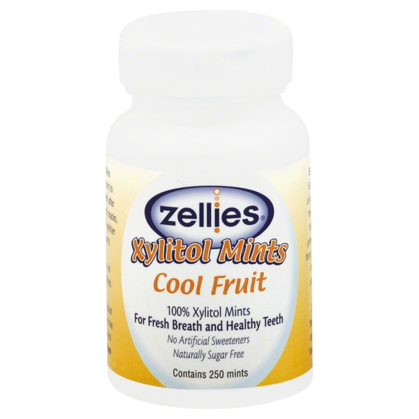 Zellies Xylitol Mints, Cool Fruit