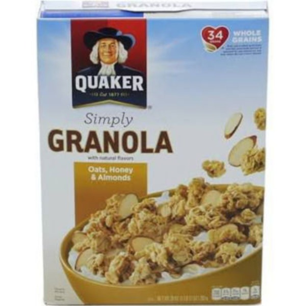 Quaker Simply Granola Oats Honey Almond Cereal