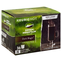 Green Mountain Coffee K-Cup Pods Dark Roast Extra Bold Dark Magic - 36