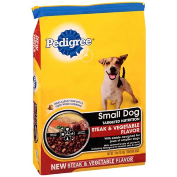 Pedigree Small Dog Complete Nutrition Grilled Steak & Vegetable Flavor Dog Food