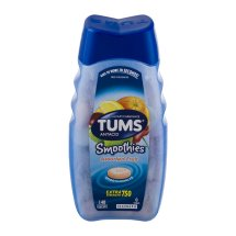 TUMS Smoothies Antacid Relief Calcium Smooth Dissolving Tablets, Assorted Fruit Flavor, 750mg, 140 Tablets