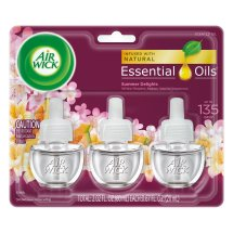 Air Wick Plugin Air Freshener, Sceneted Oil, White Flowers, Melon & Vanilla 0.67 oz. (Pack of 3)