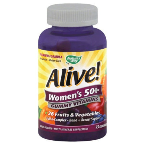 Nature's Way Alive! Women's 50+ Gummy Vitamins - 75 CT