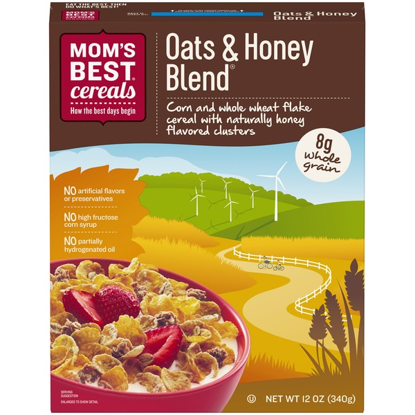 Mom's Best Cereals Sweetened Oat & Honey Blend Cereal