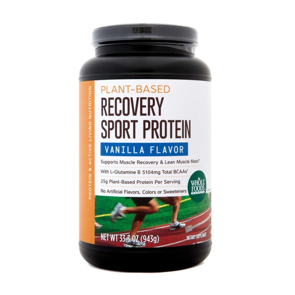 Whole Foods Market Plant-Based Recovery Sport Protein Vanilla Flavor