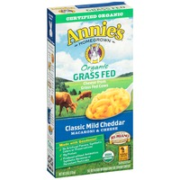 Annie's Homegrown Organic Grass Fed Classic Mild Cheddar Macaroni and Cheese Grass Fed