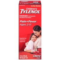 Children's Tylenol® Children's Ages 2–11 Cherry Oral Suspension Pain Reliever/Fever Reducer