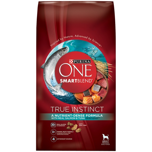Purina One Dog Dry SmartBlend True Instinct with Salmon & Tuna Adult Dog Food