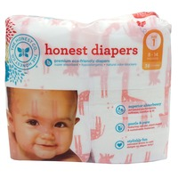 The Honest Company Honest Diapers Giraffes Jumbo Pack - Size 1