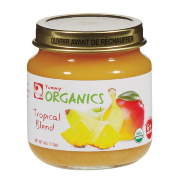 Yummy Organics 2nd Foods Tropical Blend Baby Food