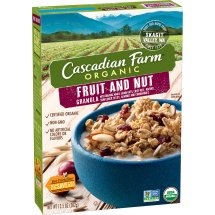Cascadian Farm Organic Fruit and Nut Granola, 13.5 oz, 13.5 OZ