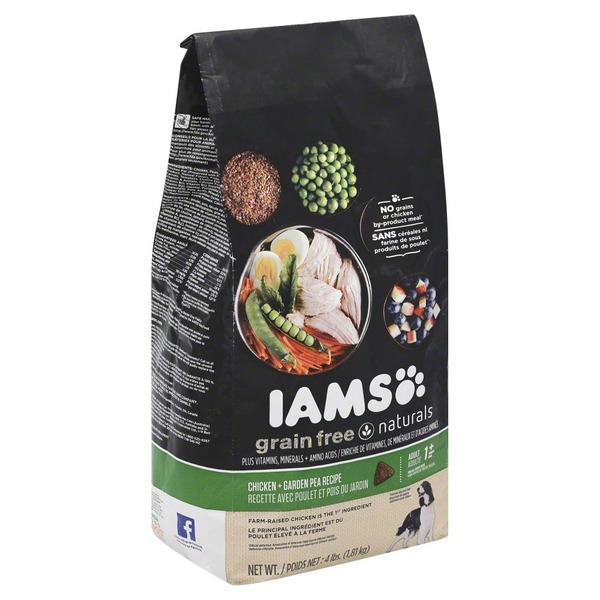 Iams Grain Free Naturals Dry Dog Food Chicken & Garden Pea Recipe