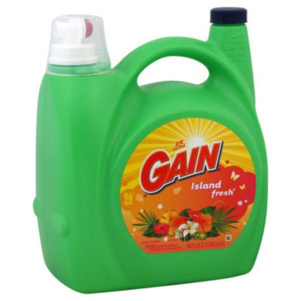 Gain Liquid Laundry Detergent, Island Fresh Scent, 96 loads, 150oz Laundry