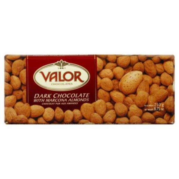 Valor Dark Chocolate, with Marcona Almonds