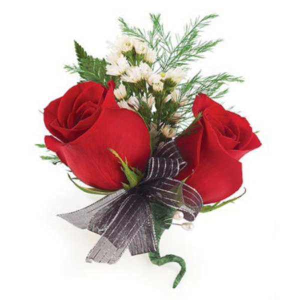 Floral Traditional Double Rose Corsage