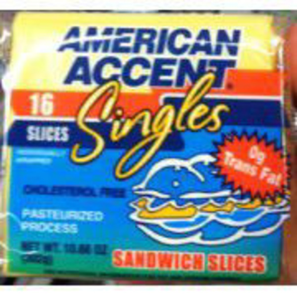 American Accent Yellow Cheese Sandwich Slices