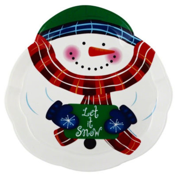 Creative Converting Snowman Plastic Molded Tray