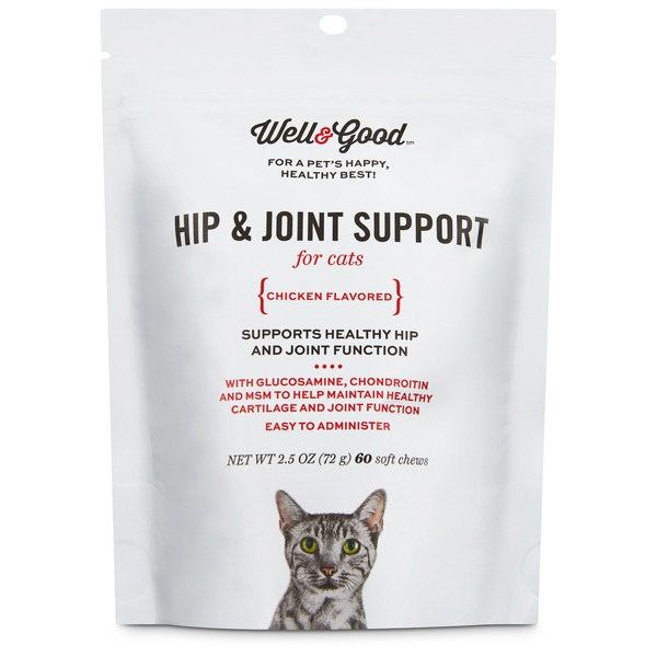Well & Good Hip & Joint Support for Cats Chicken Flavored