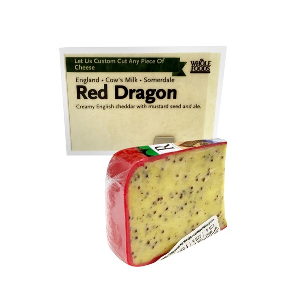 Whole Foods Market Red Dragon Creamy English Cheddar With Mustard Seed & Ale