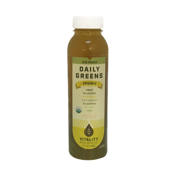 Daily Greens Organic Vitality Vegetable and Fruit Juice